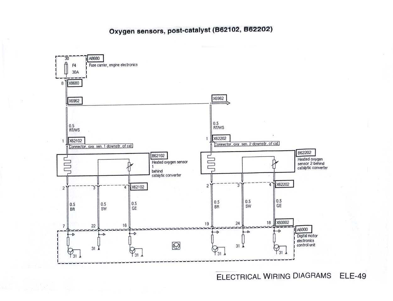 E46 NM Post-CAT 02 Sensor Schematic